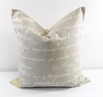 Penmanship pillow cover. Reed and Natural. Decor. Cotton. Select size