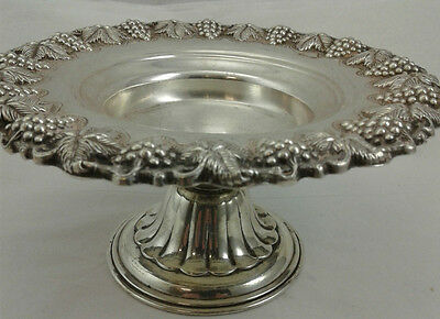 "Candy Nut Tray Grape Leaf Design - Sterling Silver 925 - 114 g - 6.5 "" diameter"