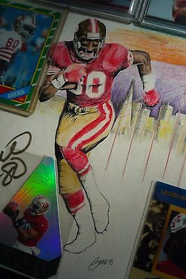 1996 Pinnacle Laserview Jerry Rice Autograph /900