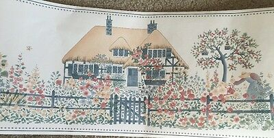 Roses Flowers Field Garden Country Vintage French Country Wall Border Cottage