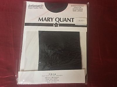Vintage Stockings Black Hold Ups Mary Quant Sealed Pack