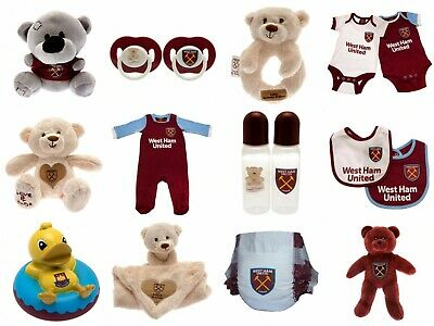 West Ham Baby Kit Baby grow Sleep suit Hammers Baby Vests Bibs Teddy Baby shirt