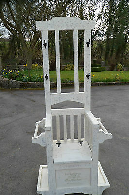 Solid wood hall stand / chair / coat hook/ shoe storage shabby chic, Annie Sloan