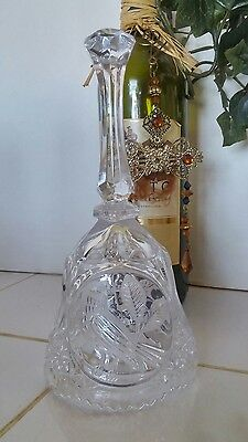 Hofbauer Collection Echt Bleikristall Crystal Bell Byrdes West Germany Heavy