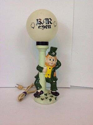 Vintage Bar Lamp Leprechaun Irish Bar Open Man Cave