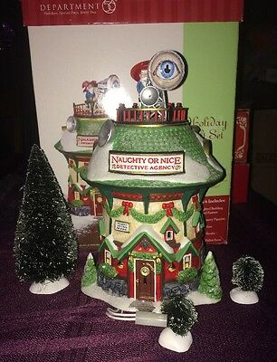 Department 56 Naughty or Nice Detective Agency - North Pole Series