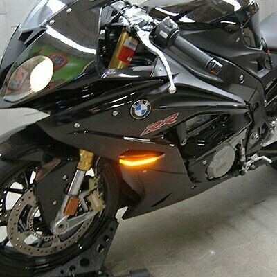 BMW S1000RR LED Front Turn Signals New Rage Cycles NRC LIGHT led race