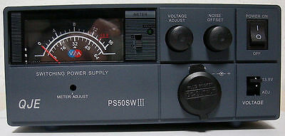 NEW QJE PS50SWIII 50 Amp Switching Power Supply with Volt/Amp Meter