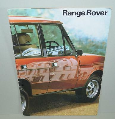 Old Car Sales Brochure For The Range Rover.