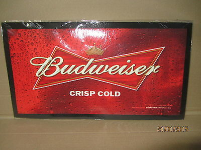 Budweiser Rubber Backed Bar Runner/Mat - New and Sealed thin type 440x240