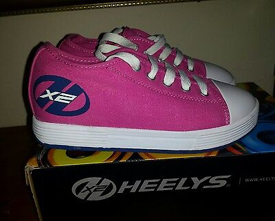 Heelys shoes size UK 1pink  - white  colour with box and accessories.
