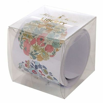 Liberty of London Stickers Roll Round Floral stickers x 50 Stickers Craft