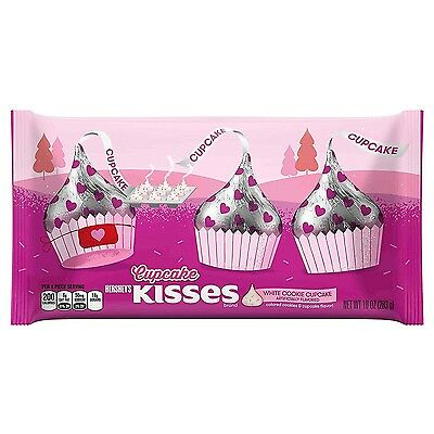 HERSHEY'S KISSES 10 oz Bag CUPCAKE White Cookie Candy VALENTINES Exp. 10/17