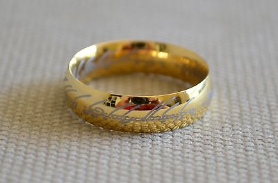 Hobbit The One Ring Lord of Rings Gold Ring