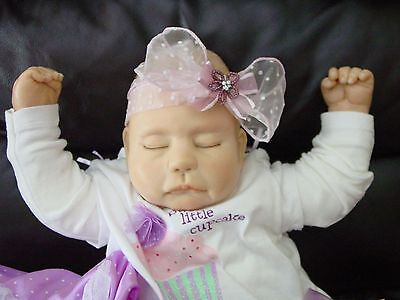 "22"" Life size Newborn Ooak Polymer Clay Baby ""Girl"" Realistic Looking ~Lifesize"