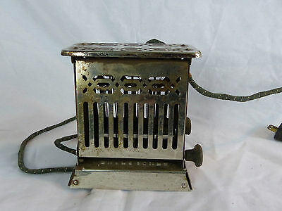 antique toaster hotpoint model 125t22 double drop door works art deco display