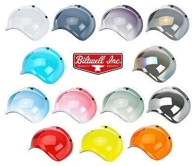 Biltwell Bubble Shield Visor for Bonanza Gringo & 3 Snap Motorcycle Helmets