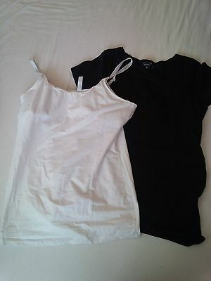 Black and white nursing tops, one from New Look size 12