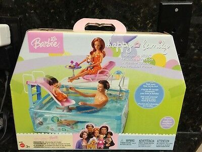 Barbie Happy Family SPLASH N SLIDE POOL Playset  Brand New - RARE