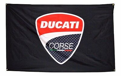 Ducati Corse Flag 3x5 Banner Poster Moto GP 3x5 Motorcycle Sign Rossi