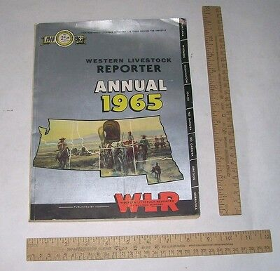 1965 Western Livestock Reporter Annual - WLR of Billings, Montana - Pb Book