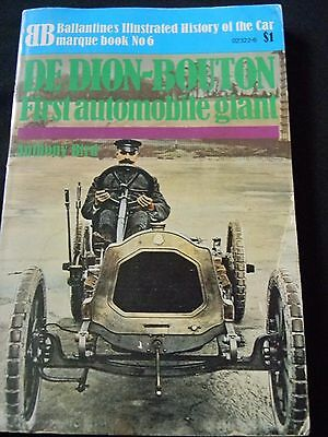 Ballantine's Illustrated History Of The Car #6, De Dion-Bouton by Anthony Bird