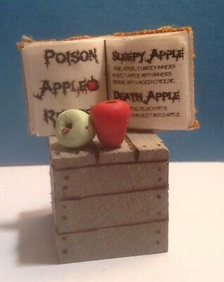 Miniature Witch's Book Poison Apple Recipes Handmade 1:12 Dollhouse