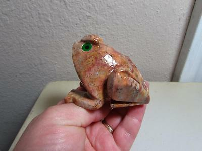 Frog or Toad, Hand carved Marble from the Andes. Richly Hued Stone, Frog