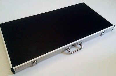 Aluminium EXTRA LARGE Pool Snooker Billiard Cue Case Display Box holds 7 Cues