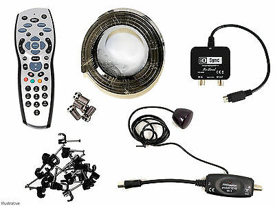 Sky HD Silver Remote Control With Sky Magic Eye & I/O Link & Installation Kit