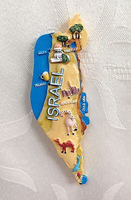 ISRAEL Map 3D Fridge Magnet /Souvenir /Gift ~Country ~State