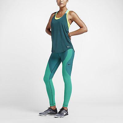 f15cdfe8054dc Nike Teal Yoga Zoned Sculpt Women's Training Tights 810965-347 Size S-M