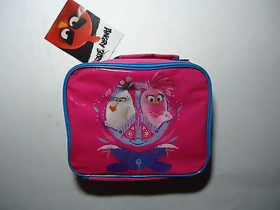 Angry Birds Insulated Pink Zipper Lunch Bag 2016 Calego Canvas School