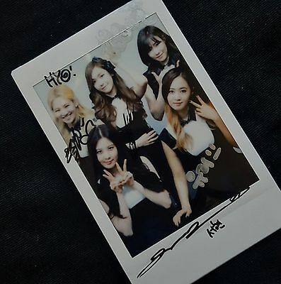 (USA) SNSD Girl's Generation Rare Signed Polaroid!