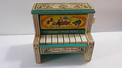 Vintage Fisher Price Change a Tune Piano Rough Condition Not Working
