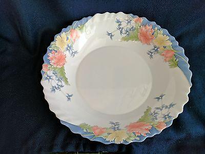 Arcopal Florine Floral France Scalloped Rim Small Bowl/Plate 8""
