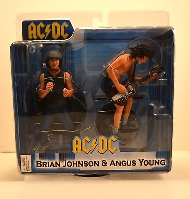 "AC/DC Collectors: 2007 NECA Angus Young & Brian Johnson 7"" Figures"