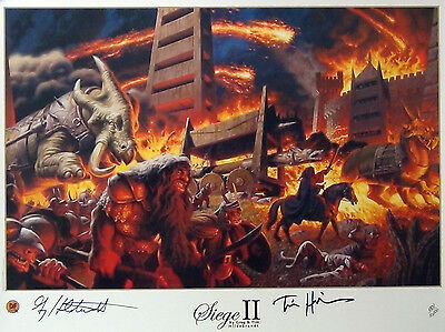 THE TOLKIEN YEARS:SIEGE II L/E LITHOGRAPH PRINT POSTER S/N  W/COA By HILDEBRANDT