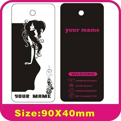 custom 500PCS lady clothes tags ,print your logo on tags 300gsm Paper