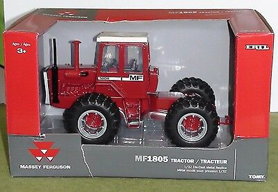 Massey Ferguson 1805 Tractor Dual Wheels Front And Rear Diecast Scale 1/32 Ertl