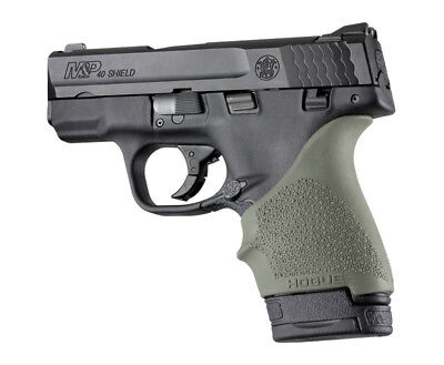 Hogue HANDALL S&W M&P Shield/Ruger LC9 Beavertail Grip Sleeve-OD Green-18401