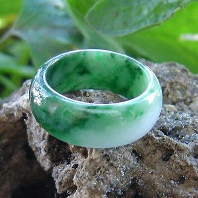 Unique Pure Natural A Grade Jadeite Carving Ring U.S Ring Size: 7 Inner Dia.17mm