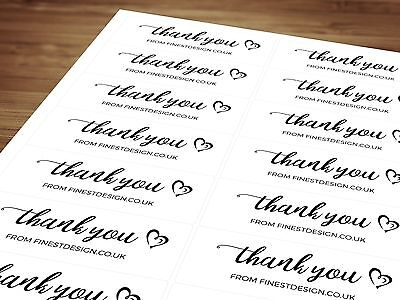 Personalised Thank You By Name / Business Labels / Wedding  A4 14 Per Sheet