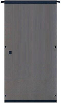 Snavely Forest Black Easy Install Instant Screen Door Hardware Included Plastic