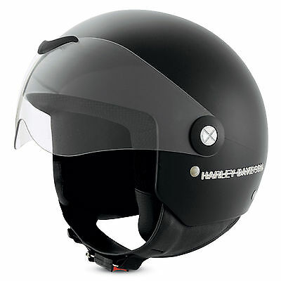 Harley-Davidson Aviator 3/4 Matt Black Medium 58cm Motorcycle Helmet