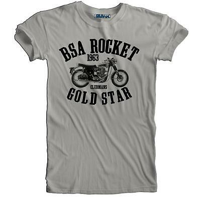 Vintage Retro BSA Gold Star Rocket Motorcycle Biker T-shirt S to 5XL Plus Size
