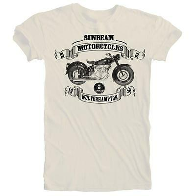 Vintage Retro Sunbeam Shaft Drive Motorcycle Biker T-shirt S to 5XL Plus Size.