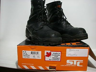 STC Steel Toe Boots Size 13 83828 Black Oil & Acid Resistant Made in Canada