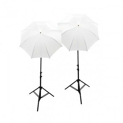 800 Watt continuous light kit with white diffuser umbrella photo or video light