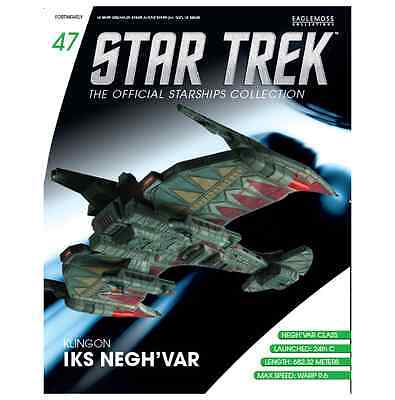 Star Trek Eaglemoss Klingon Negh Var Vessel Issue 47 With Magazine